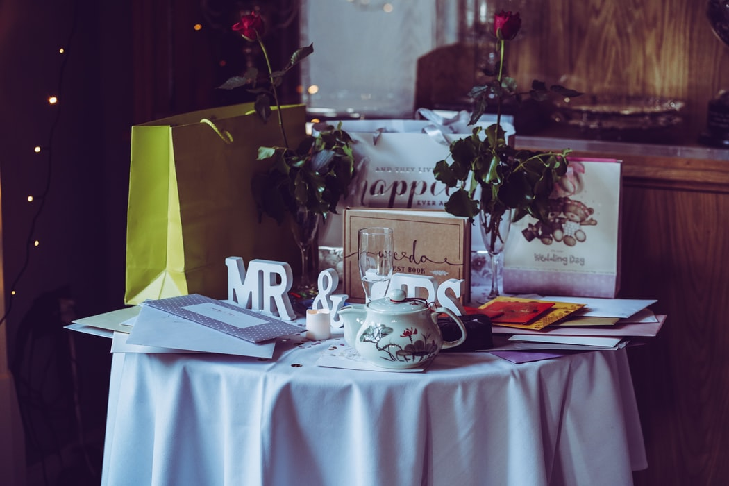 Wedding Gifts On A Gift Table