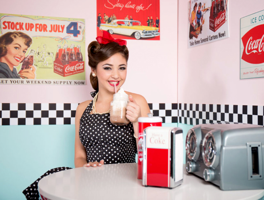Quinceañera Themes - Birthday Girl With 1950s Soda Shop Theme