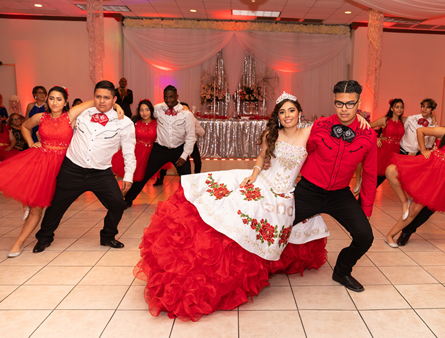 Quinceañera Themes - Birthday Girl Dancing At Western Themed Party