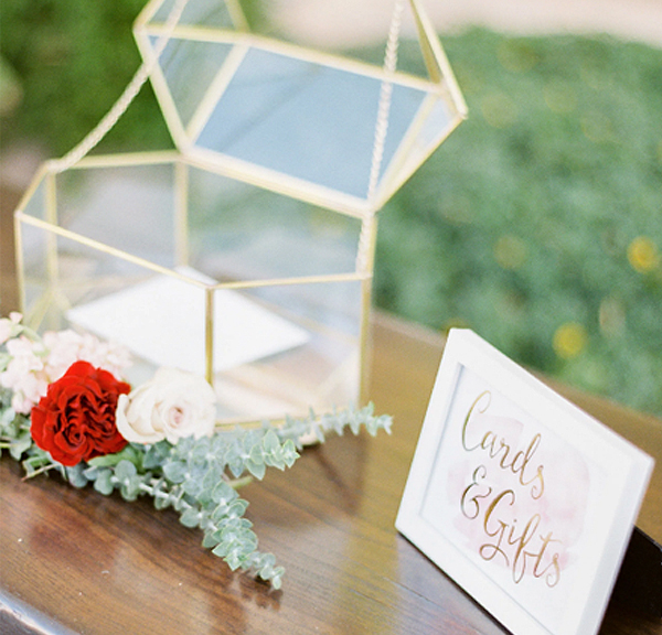 Wedding Registry - Geometric Wedding Card Box