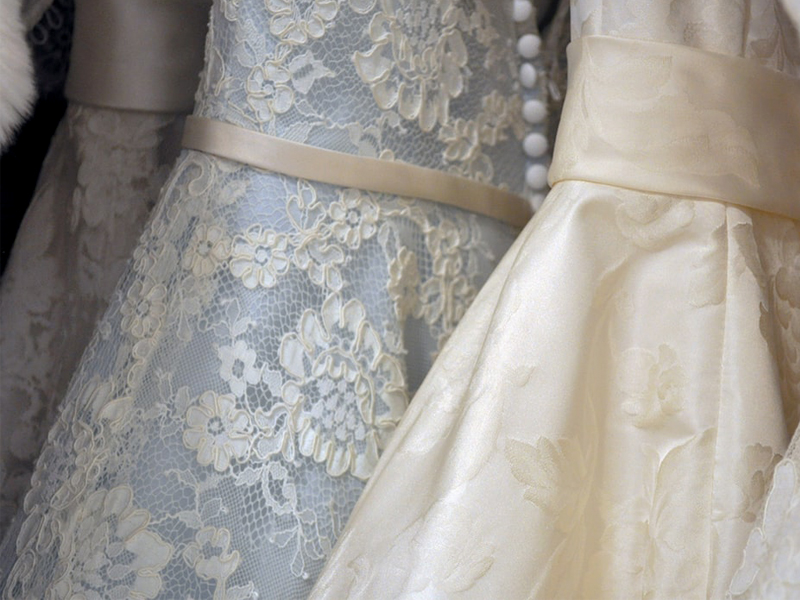 Wedding Dress Shopping - Wedding Gowns Close Up