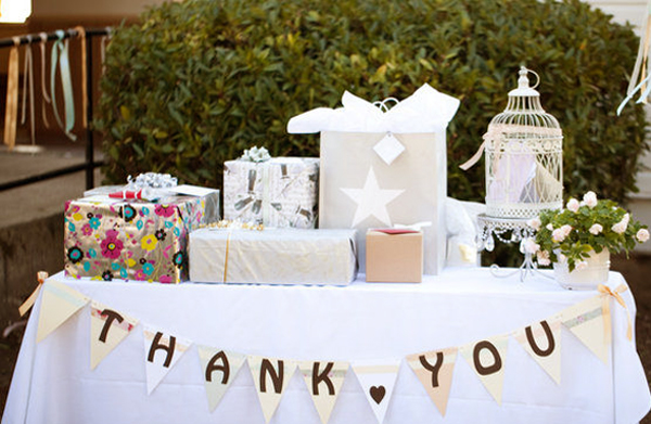 Wedding Registry - Wedding Gifts On Table
