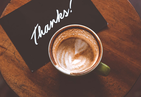 Wedding Registry - Thank You Card With Coffee
